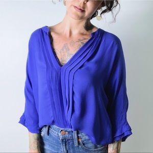 JOIE Marru Silk Top in Blue
